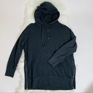 Aerie Oversized Double Zipper Hoodie size large
